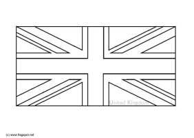 Englische Flagge Zum Ausmalen