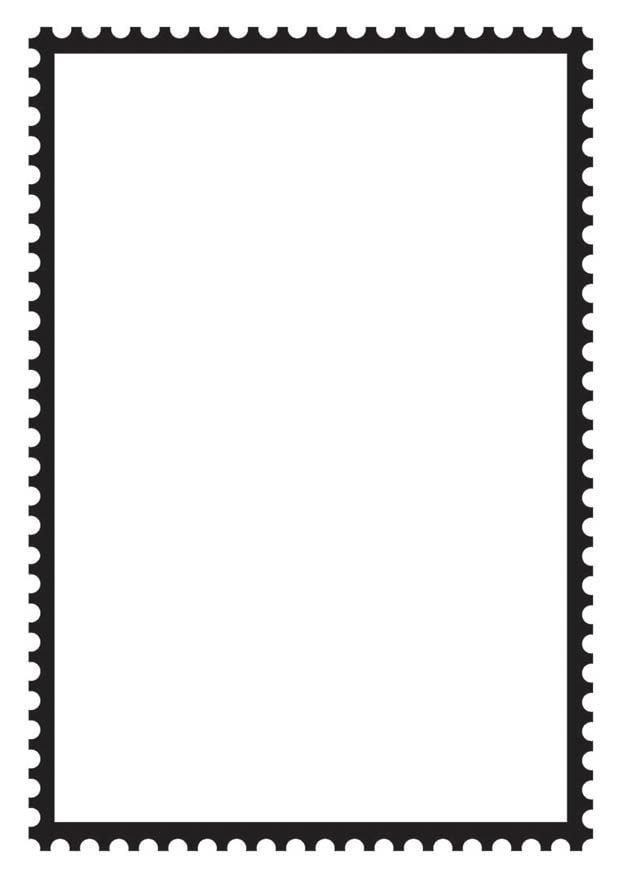 Malvorlage viereckige Briefmarke   Ausmalbild 18691.