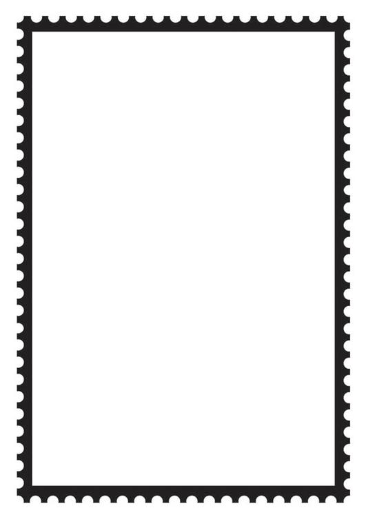 Malvorlage viereckige Briefmarke   Kostenlose Ausmalbilder ...