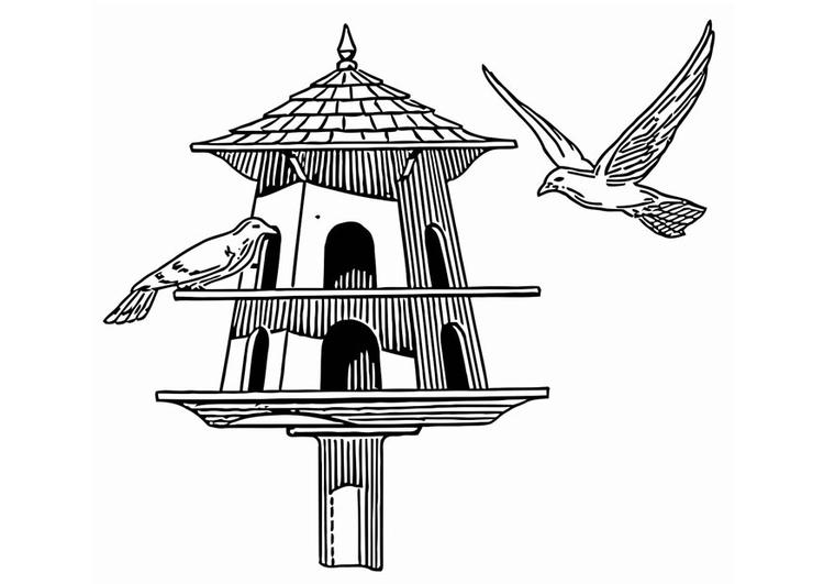 Malvorlage Vogelhäuschen - Kostenlose Ausmalbilder Zum