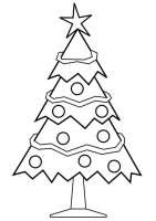 Malvorlage Weihnachtsbaum   Ausmalbild 28167.