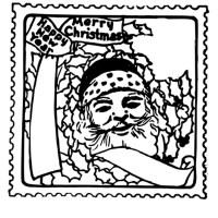 Malvorlage Weihnachtsbriefmarke   Kostenlose Ausmalbilder ...