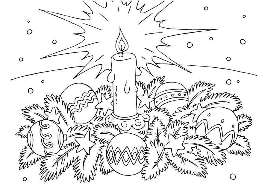 Malvorlage Weihnachtskranz Ausmalbild 23377