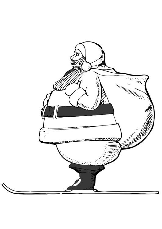 Malvorlage Weihnachtsmann aus Skien - Kostenlose