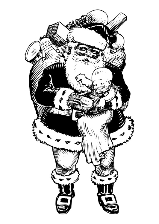 Malvorlage Weihnachtsmann - Kostenlose Ausmalbilder Zum