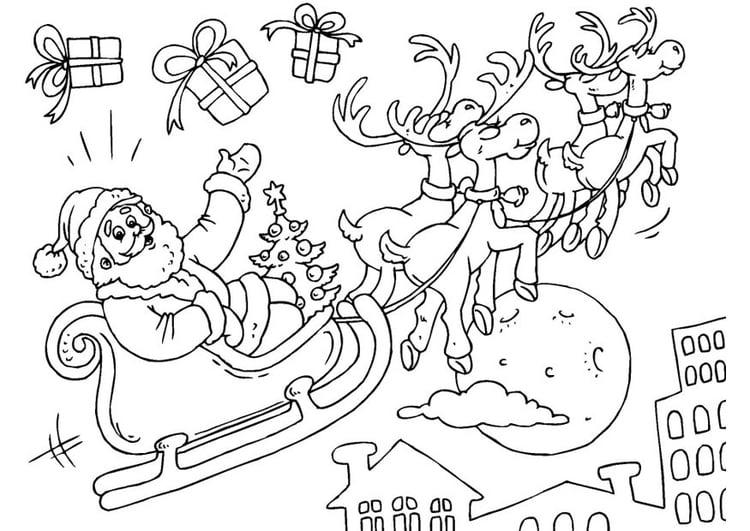 33 Ausmalbilder Weihnachtsmann Mit Schlitten - Besten