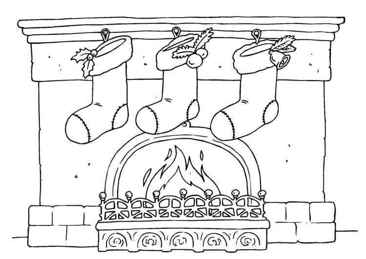 Malvorlage Weihnachtsstrumpf - Kostenlose Ausmalbilder Zum