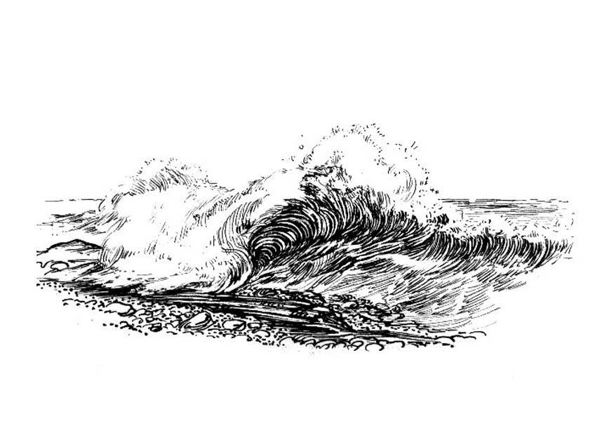 Malvorlage Welle - Brandung - Kostenlose Ausmalbilder Zum