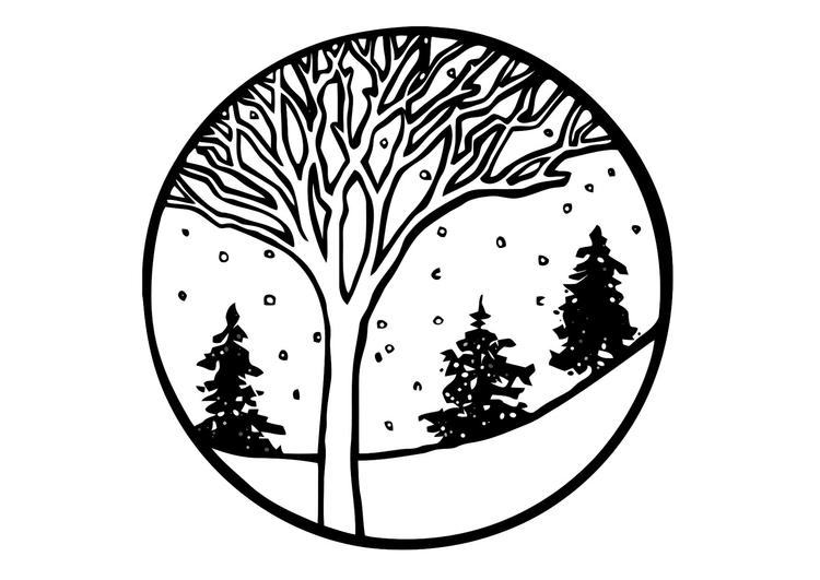 Malvorlage Winter - Kostenlose Ausmalbilder Zum Ausdrucken