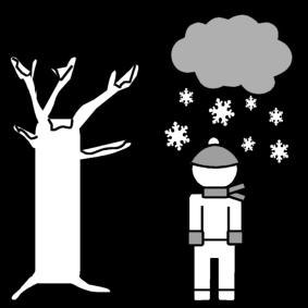 Winter Malvorlage