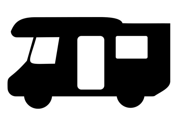 Malvorlage Wohnwagen - Kostenlose Ausmalbilder Zum
