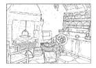Malvorlage Wohnzimmer Ausmalbild 25997