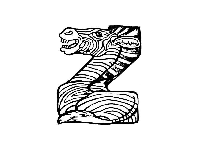 Malvorlage z-zebra - Kostenlose Ausmalbilder Zum Ausdrucken