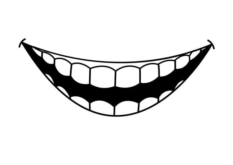 Malvorlage Zähne - Kostenlose Ausmalbilder Zum Ausdrucken