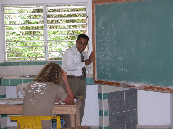 Gustavo during lesson (2003)