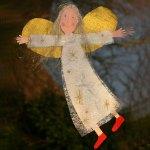 Basteln Mit Kindern Kostenlose Bastelvorlage Advent Winter Und Weihnachten Fenster Engel