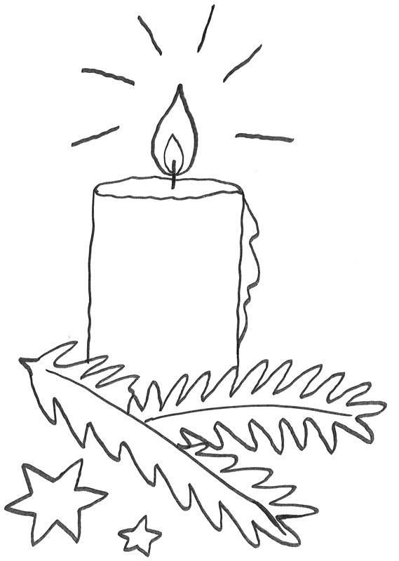 Malvorlage Adventskranz als Ausmalbild - Ausmalbilder