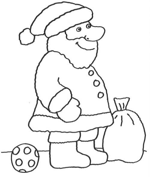 Kostenlose Malvorlage Advent Nikolaus zum Ausmalen