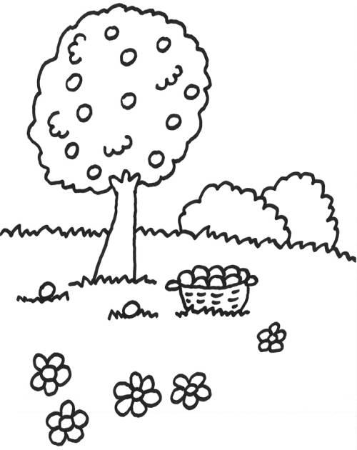 Malvorlagen Bäume Und Blumen - Kostenlose Malvorlagen Ideen