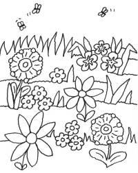 Ausmalbilder Blumen Und Bienen Blumen Comic Ausmalbilder