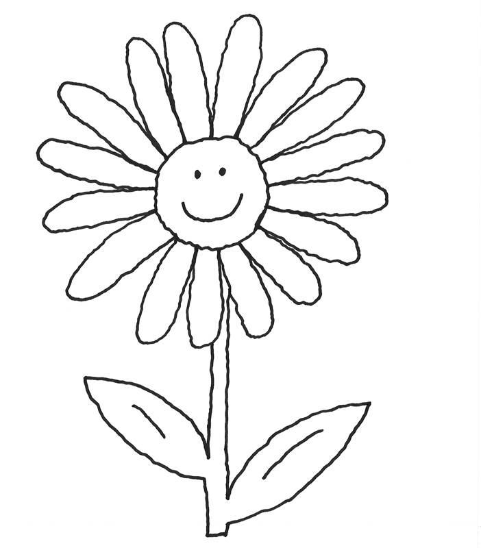 Kostenlose Ausmalbilder und Malvorlagen Blumen zum