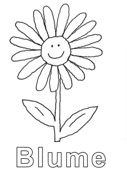 Kostenlose Malvorlage Blumen Blume zum Ausmalen zum Ausmalen