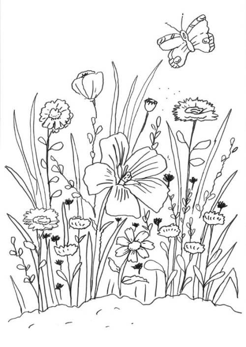 Malvorlage Wiese Mit Blumen Auto Electrical Wiring Diagram