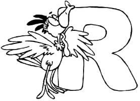 Ausmalbild Buchstaben lernen Tierschrift R kostenlos ...