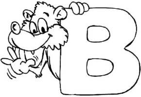 Kostenlose Malvorlage Buchstaben lernen Tierschrift B zum ...