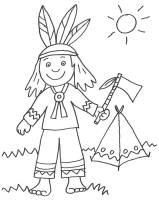 Kostenlose Malvorlage Cowboys & Indianer Indianer und ...