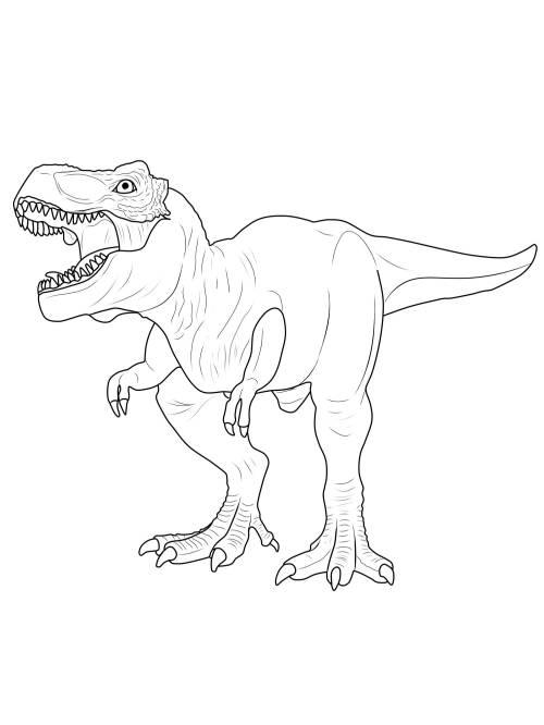 Malvorlagen Dinosaurier Gratis - Kinder zeichnen und ausmalen
