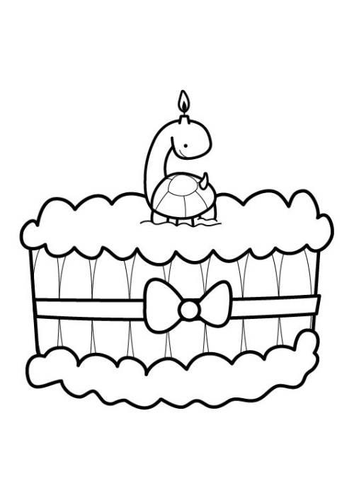 Geburtstagskuchen Malen