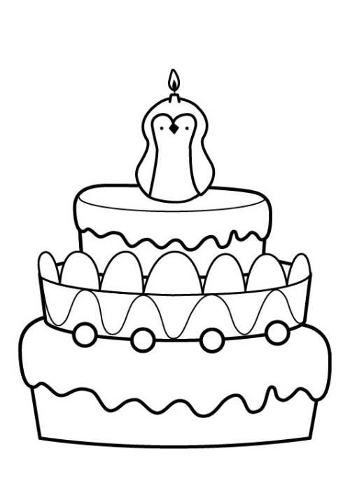 Kostenlose Malvorlage Geburtstag Kuchen zum achten Geburtstag zum Ausmalen
