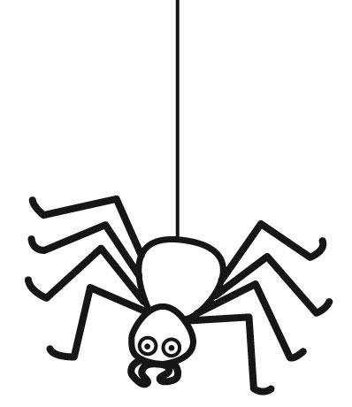 Ausmalbild Halloween Spinne kostenlos ausdrucken