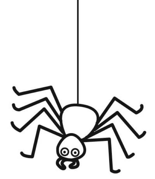 Kostenlose Malvorlage Halloween Spinne zum Ausmalen