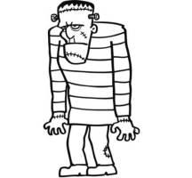 Kostenlose Malvorlage Halloween Frankensteins Monster zum ...