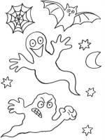 Kostenlose Malvorlage Halloween Geister zum Ausmalen