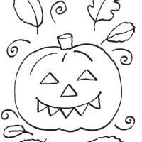 Kostenlose Malvorlage Halloween Halloween Kürbis zum Ausmalen