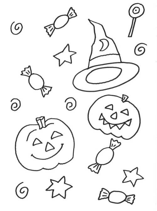 Kostenlose Malvorlage Halloween Chinesen