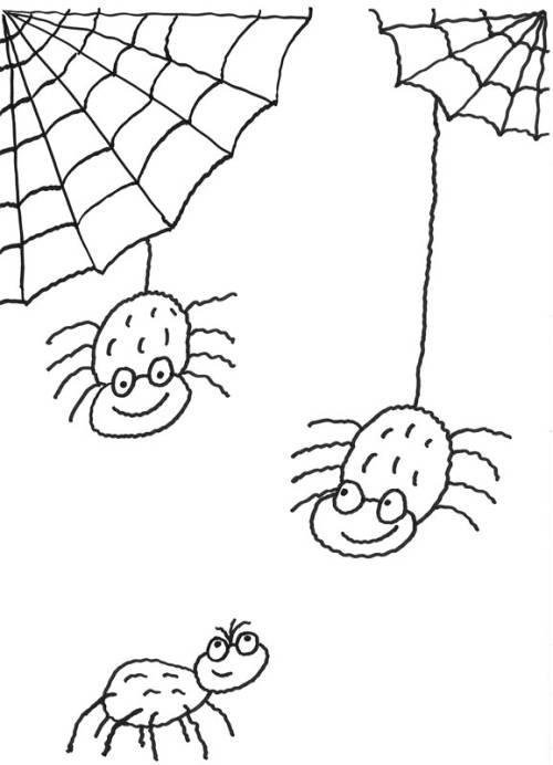 Kostenlose Malvorlage Halloween Spinnen Zum Ausmalen