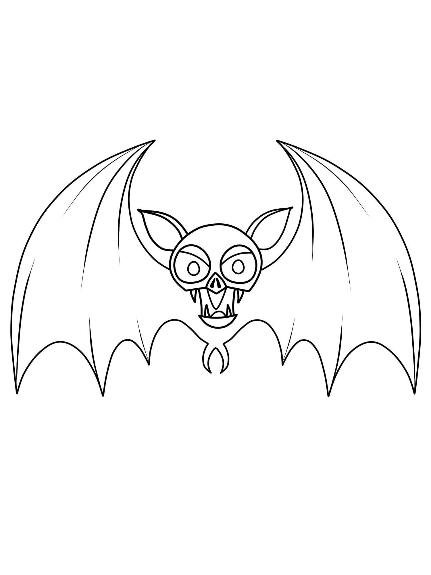 Ausmalbild Halloween Fledermaus kostenlos ausdrucken