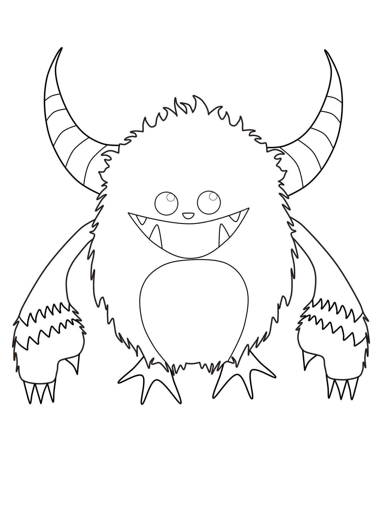 Frisch Monster Ausmalbilder Kostenlos Top Kostenlos