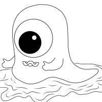 Kostenlose Malvorlage Halloween Einäugiges Monster zum ...