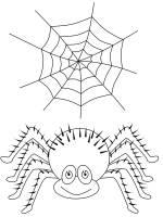 Kostenlose Malvorlage Halloween Spinne und Spinnennetz ...