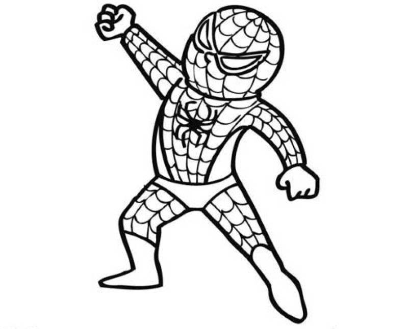 Kostenlose Malvorlage Halloween Verkleidung Spiderman zum