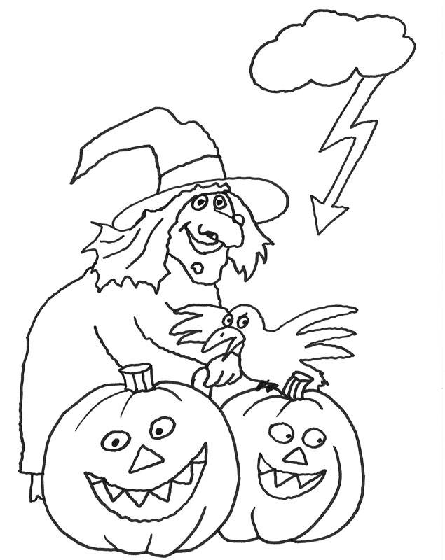 Kostenlose Ausmalbilder und Malvorlagen Halloween zum