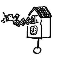 Ausmalbild Menschen und ihr Zuhause Kuckucksuhr kostenlos ...