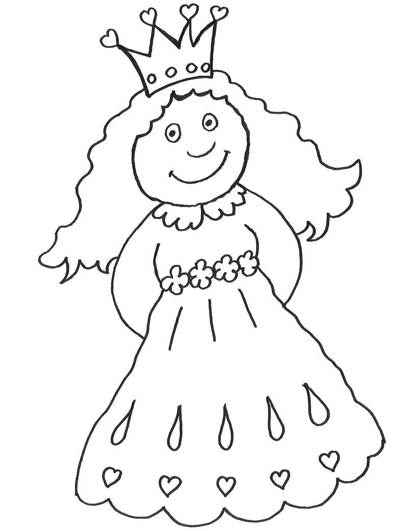 Kostenlose Malvorlage Märchen Prinzessin im Turm zum Ausmalen