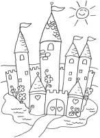 Ausmalbild Prinzessin Märchenschloss kostenlos ausdrucken