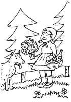 Ausmalbild Märchen Rotkäppchen zum Ausmalen kostenlos ...